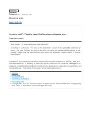 Learning unit 07- Pleading stage- Drafting pleas and special pleas.pdf