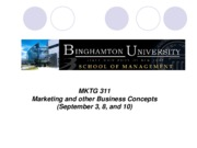 Lecture 2 Marketing and Other Business Concepts