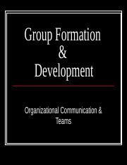 Group Formation & Development.ppt