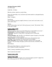 EDUC 440.926 Aboriginal Education Notes.docx