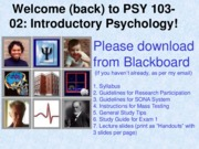2 Research Methods in Psychology (Fall 2015 for Bboard)