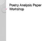 Poetry Analysis Paper Workshop