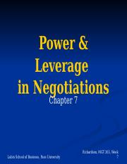 Chap 7 Power in Negotiation