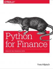 Python for Finance_ Analyze Big - Yves Hilpisch.pdf