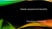 HPI 507 Week 5 powerpoint NEEDS ASSESSMENT