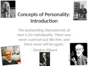 Week 1, 1 INTRODUCTION TO PERSONALITY STUDY