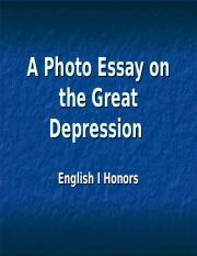 essay of the great depression Free essay on the great depression overview essay available totally free at echeatcom, the largest free essay community.