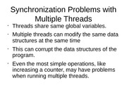 Synchronization Problems with Multiple Threads