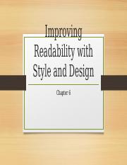 Improving Readability with Style and Design
