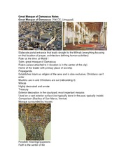 Great Mosque of Damascus Notes