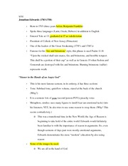 9-30 English Notes (Jonathan Edwards)