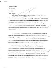 Essay on Public Relations