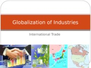 Globalization of Industries