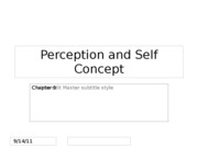 CMN 101 Interpersonal lecture 4 on perception and self concept