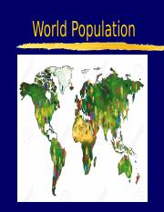 Population Powerpoint Lesson One