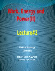Lec# 1B (Work, Energy and Power)