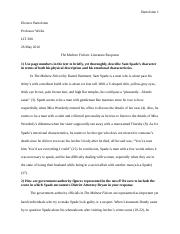 LIT200 The Maltese Falcon - Literature Response (EB).docx