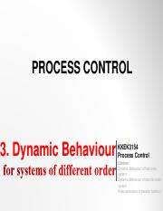 Topic 3 -Dynamic Behavior