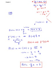Chapter 2 Lecture on Precalculus