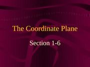 1-6 The Coordinate Plane