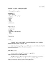 TIger Paper Bibliography