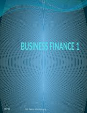 Introduction to  Business Finance.pptx
