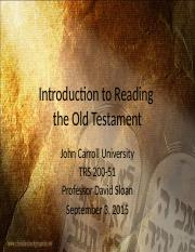 02 - Introduction to Reading the Old Testament