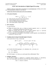 Sample final with solution (ELEC 442)