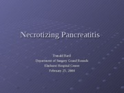 Necrotizing Pancreatitis - DBaril-1