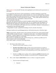 Essay 3 Thesis Outline