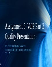 Assignment 5 VoIP Part 3 (Quality) final