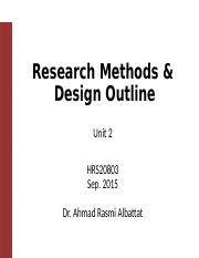 3. Research designs (2) HRS20803