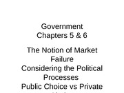 EC101 Chapter 5 and 6 Government
