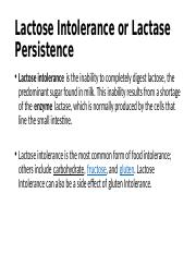 Lactose Intolerance or Lactase Persistence.pptx