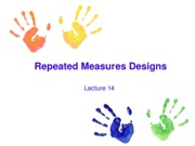 Lecture 14 Repeated Measures Designs