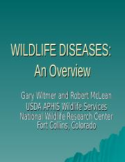 Wildlife Diseases Overview.ppt