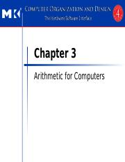 Chapter 3 Arithmetic for Computers (2)