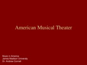 15 Musical Theater