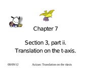 CH-7-Sectin -3 Translation on t-axis
