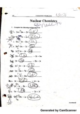 Nuclear Chemistry Equation Practice