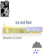 Lect 2-6  Ice Rain Control & Fire protection