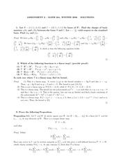 MATH 251 Assignment 2 Solutions