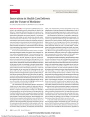 Innovations in health Care Delivery and the Future of Medicine.pdf
