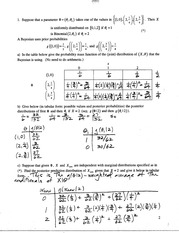 Stat 544 Midterm 2007 Solutions