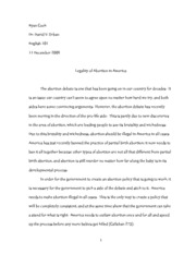 Abortion Paper Final Copy