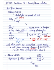 CH105 Lecture 18 Acids Bases and Redox