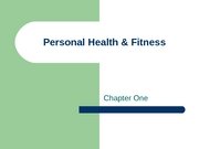 Ch 1 - Intro to Personal Health