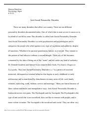 Case study schizophrenia killer