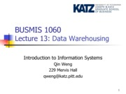 Lecture 13-Data Warehousing