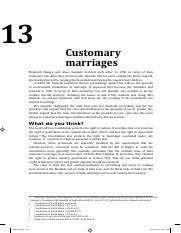 Barratt 375-392. Customary marriages